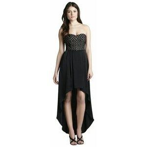 BCBGMAXAZRIA Black Bcbg High-low Cocktail Dress
